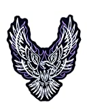 Flaming Phoenix Purple Iron On Center Patch for Motorcycle Rider or Bikers Veteran Vest