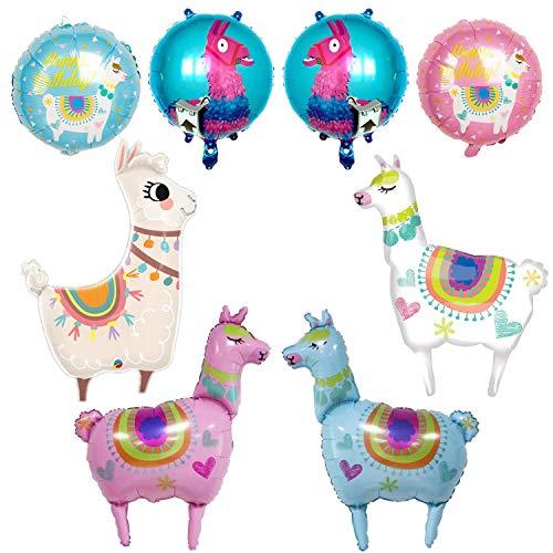 Alpaka Luftballon BESTZY 8 STK Alpaka Tier Folienballon Lama Ballons Helium Folie Ballon Kit für Kinder Geburtstag Party Dekoration Spielzeug