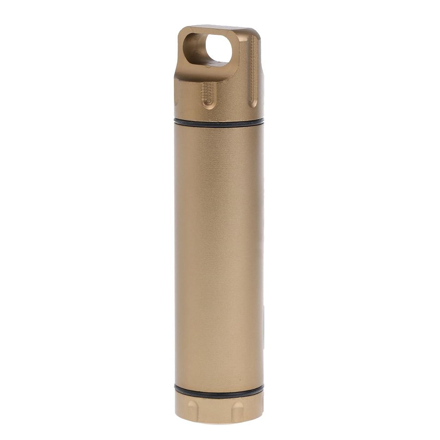 T TOOYFUL ピルボックス ピルケース 合金 楊枝 小物収納ボックス 防水 携帯可能 全3色 - シャンパン