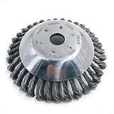 YUET - Cortador de césped universal de acero de 6 pulgadas para limpieza de ruedas de alambre sólido para casa, jardín, patio, cuidado de malas hierbas, cortacésped, maquinilla de afeitar