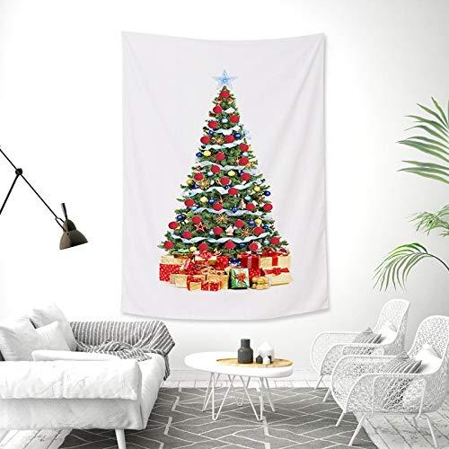 nobranded Doppelseitige Weihnachtsbaum Pfirsich Haut Tapisserie Stoff Wandbehang Wandbild Weihnachtsdekoration hängende Stoffdecke
