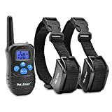 Petrainer PET998DRB2 Dog Training Collar with Remote for 2 Dogs, Rechargeable Waterproof Dog Remote Collar with Beep, Vibration and Static Electronic Dog Collar, 1000 ft Range
