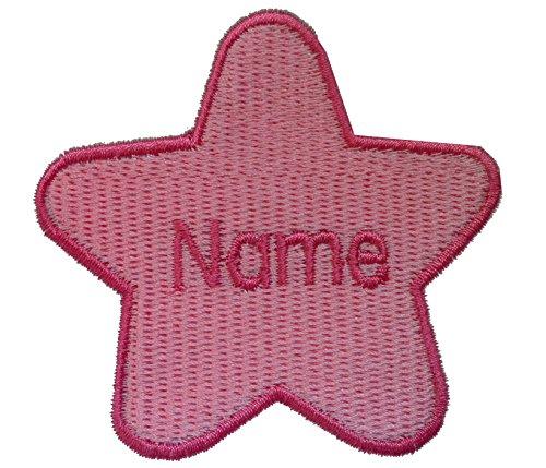 Parche forma estrella nombre personalizado bordado