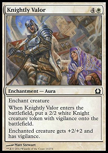 Magic The Gathering - Knightly Valor (13) - Return to Ravnica by
