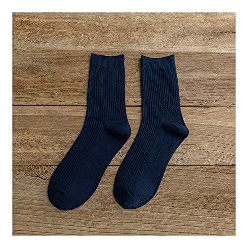 Clásico Transpirable Cómodo Calcetines de vestir 1 Cojín de algodón Par larga de los hombres Calcetines, atlético calcetín No-Show tobillo for absorción de humedad Casual Botas de trabajo Calcetines E