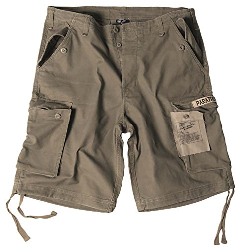 Mil-Tec Bermuda Paratrooper Washed Olive Taille 3XL