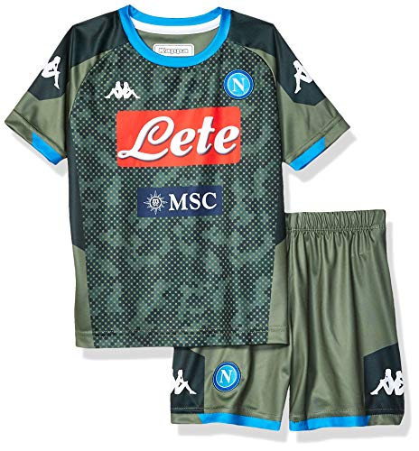 Ssc Napoli Italian Serie A Junior Away Match Kit, Green, 14 Years
