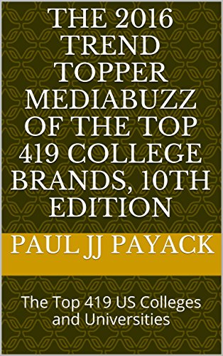 The 2016 Trend Topper MediaBuzz of the Top 419 College Brands, 10th Edition: The Top 419 US Colleges and Universities (TrendTopper MediaBuzz College Guide) (English Edition)