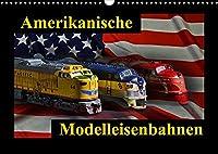 Amerikanische Modelleisenbahnen (Wandkalender 2022 DIN A3 quer): kleine Giganten der Praerie (Monatskalender, 14 Seiten )