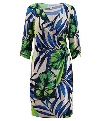 Joseph Ribkoff Tropical Print Dress with Surplus Neckline Style 182696 Size 10