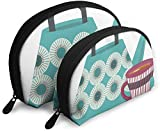Ches Shell Bolsa portátil con cremallera 2 bolsos, apto para cosméticos de mujer, bolsos/bolsos, acordes para mujeres, adhesivo moderno de mediados de siglo