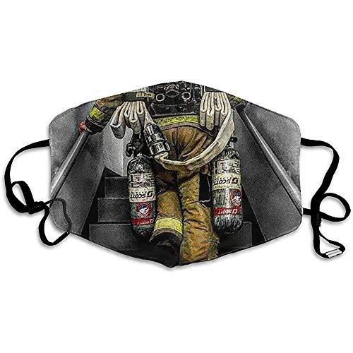 FANCYDAY Fashion Anti-Vervuiling Masker Brandweerman Brandweer Vlag Stof Gezicht Maskers Herbruikbaar