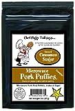 Chef Piggy Tail Microwave Pork Puffies Pork Rinds, Cinnamon Sugar, 2 Ounce...