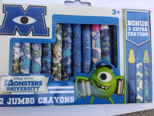 DisneyPixar Monsters University 12 Jumbo Crayons