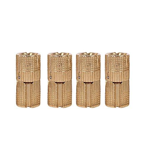 4 Piezas Paquete de Bisagras de Barril de Cobre, Bisagra de Mueble Oculta Invisible para Puerta Gabinete, ángulo Apertura 180 Grados para Encimeras Proyecto Bricolaje Joyero Manualidade(12mm)