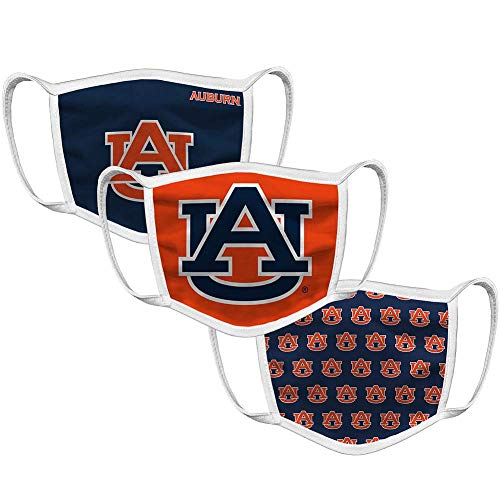 Auburn Tigers Retro Face Covering 3-Pack - Navy