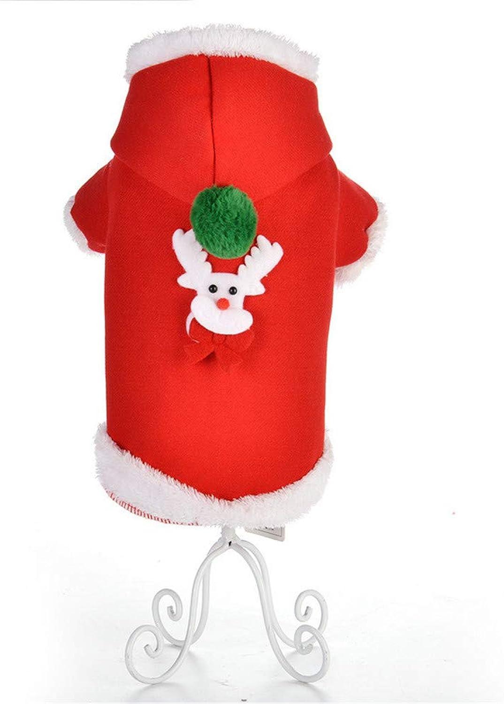 ZXCC Stylish warm Christmas hooded dog clothes (Size   XS)