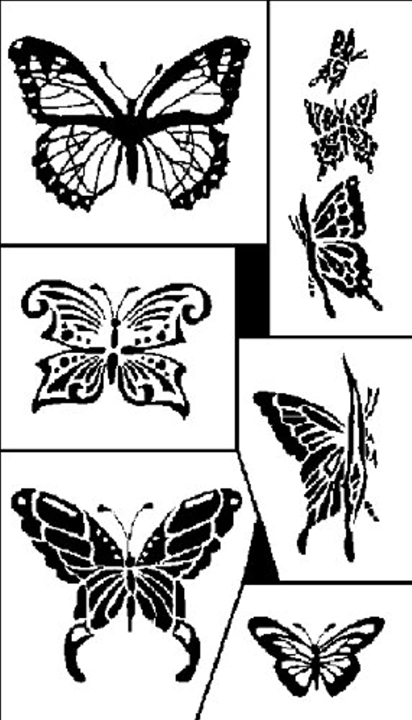 Armour Products Etch Rub N Etch Stencil, 5-Inch by 8-Inch, Butterflies
