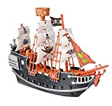 Rhode Island Novelty 10 Inch Pirate Boat, One Per Order