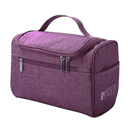 Cosmetic Bag_Multi-Function Grande Capacité Cosmetic Bag Hook Cosmetic Hand-Bag, Violet