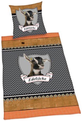 Herding 445957050 Bettwäsche Edelzicke, Kopfkissenbezug: 80 x 80 cm + Bettbezug: 135 x 200 cm, 100 % Baumwolle, Renforce