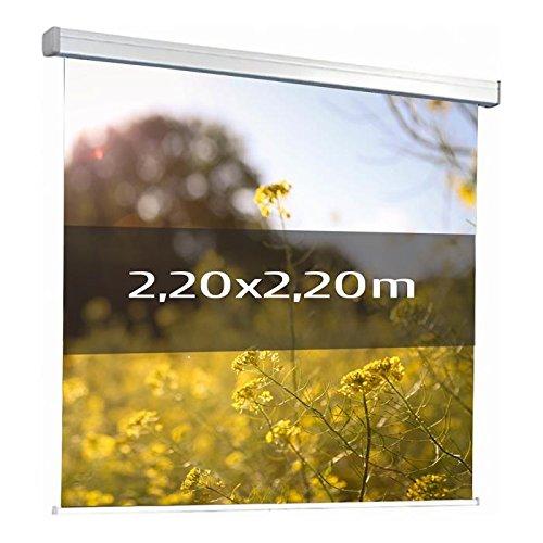 Kimex 042–3624Projektionsleinwand, elektrische 2,20x 2,20m, Format 1/1, Weiße Leinwand