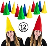 Funny Party Hats Gnome Hats - Set of 12 Hats - Dwarf Hats - Dwarf Costume - Gnome Costume