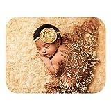 Bespeture ベビー おくるみ レース ラップ お包み 寝相アート 赤ちゃん ニューボーンフォト 写真 撮影 道具 ニットラップ 包む (ブラウン)