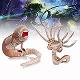 1/3 Pcs Alien Facehugger Plush,Chestburster Alien Toy for Collections and Fans Gift (Chestburster Alien+Facehugger)