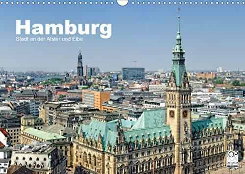 Hamburg Stadt an der Alster und Elbe (Wandkalender 2021 DIN A3 quer)