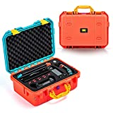 DEVASO Carrying Case for Nintendo Switch Travel Case ,Professional Deluxe Waterproof Case Soft Lining Hard Case for Nintendo Switch Console Pro Controller & Accessories (Red&Blue)