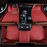 Alfombrillas personalizadas para Fiat Bravo 2008-2012 de piel de lujo, impermeables, antideslizantes, cobertura completa, alfombrilla delantera y trasera (rojo)