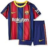 NIKE FC Barcelona Temporada 2020/21-FCB I NK BRT HMCD4607-456 Kit Completo Primera Equipación, Niño, Deep Royal Blue/Varsity Maize Full Sponsor, 24-36