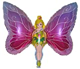 Fantastic Floatables FAIRY PRINCESS BUTTERFLY 38 inch STRINGLESS FLYING PET Balloon ANTI-GRAVITY TOY HOVERS and FLOATS in MID-AIR - Includes Height Control Weights