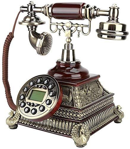 CHENXU Oficina Teléfono Fijo Actualizar Teléfono Antiguo Teléfono Vintage Teléfono Electrónico Calendario Retro Home Decoración del Hotel
