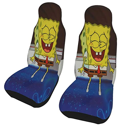 Spongebob Squarepants Car Seat Covers Cozy Classic Universal Size Seat Accessories Premium Durable 2-Piece Set