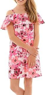 Dykmod Vestido de verano para niña con pliegues, primavera 116-158