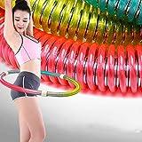 RDYL Doppia Molla del Tubo Hula Hoop Anello Fitness Intelligente,Cerchio Modellante del Corpo Anello Dimagrante Esercizio in più Parti,Anello Sportivo Nuovo Multifunzionale,Portatile