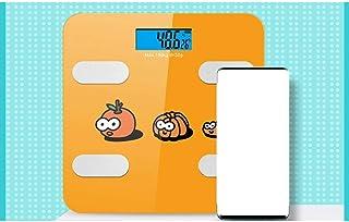 Báscula de baño digital Báscula electrónica 270 * 270 * 24 mm, UDB carga, alta precisión, respuesta rápida, adecuada for la medición de la grasa corporal báscula peso corporal (Color : B)