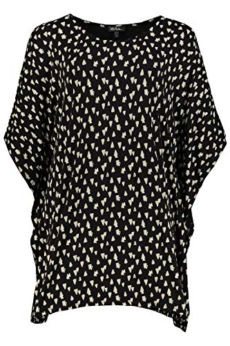Ulla Popken Damen große Größen Oversized-Nachthemd schwarz 50/52 727938 10-50+