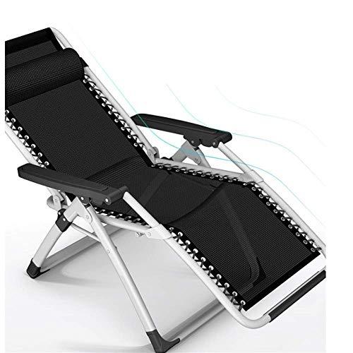 Silla de escritorio de oficina, silla reclinable de gravedad cero, tumbona de jardín al aire libre, reclinable de oficina con cojines (color sin cojines)