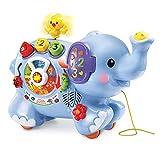 VTech – Trompette, Mon Éléphant des Découvertes - Centre d'Éveil, Animal Interactif, Jouet à Tirer - Version FR