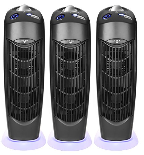 Atlas Three Ionic UV Electrostatic Carbon Filter Air Purifiers no Main Filter Replacement