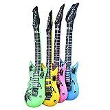 Guitarra Inflable Inflable De Los Instrumentos Musicales Guitarra Hinchables Saxofón del Partido para El Micrófono Suministros Favores De Partido Globos