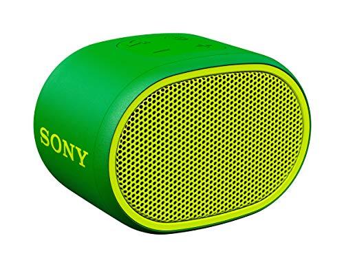 Sony SRSXB01G - Altavoz inalámbrico portátil (Compacto, Bluetooth, Extra Bass, 6h de batería, Resistente al Agua IPX5, Viene con Correa) Color Verde