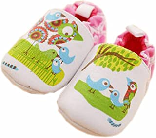 Baby First Walkers Soft Sole Cotton Toddler Shoes Green Bird