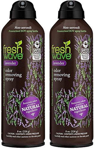 Fresh Wave Lavender Odor Eliminator Spray & Air Freshener, Non-Aerosol, Fine Mist, 8 oz. (Pack of 2)