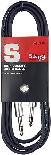 Stagg SAC1PS DL Câble d'instrument Jack-Jack 1 m Noir