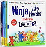 Ninja Life Hacks Leadership 8 Book Box Set (Books: Focused, Calm, Brave, Masked, Inclusive, Grateful, Hangry, and either Worry or Compassionate)