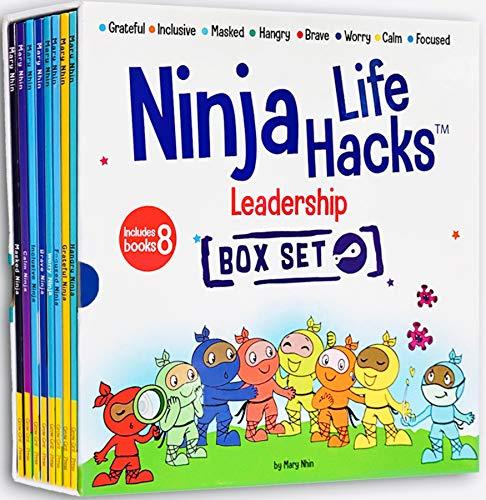 Ninja Life Hacks Leadership 8 Book Box Set (Books 17-24: Focused, Calm, Brave, Masked, Inclusive, Grateful, Hangry, and Worry)